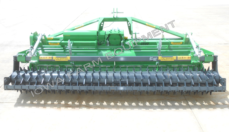 Valentini PTO Powered Rotary Tiller with Packer Roller